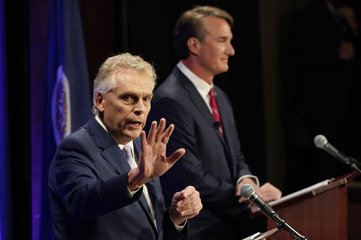 Poll: McAulliffe and Youngkin in tight race for Virginia governor