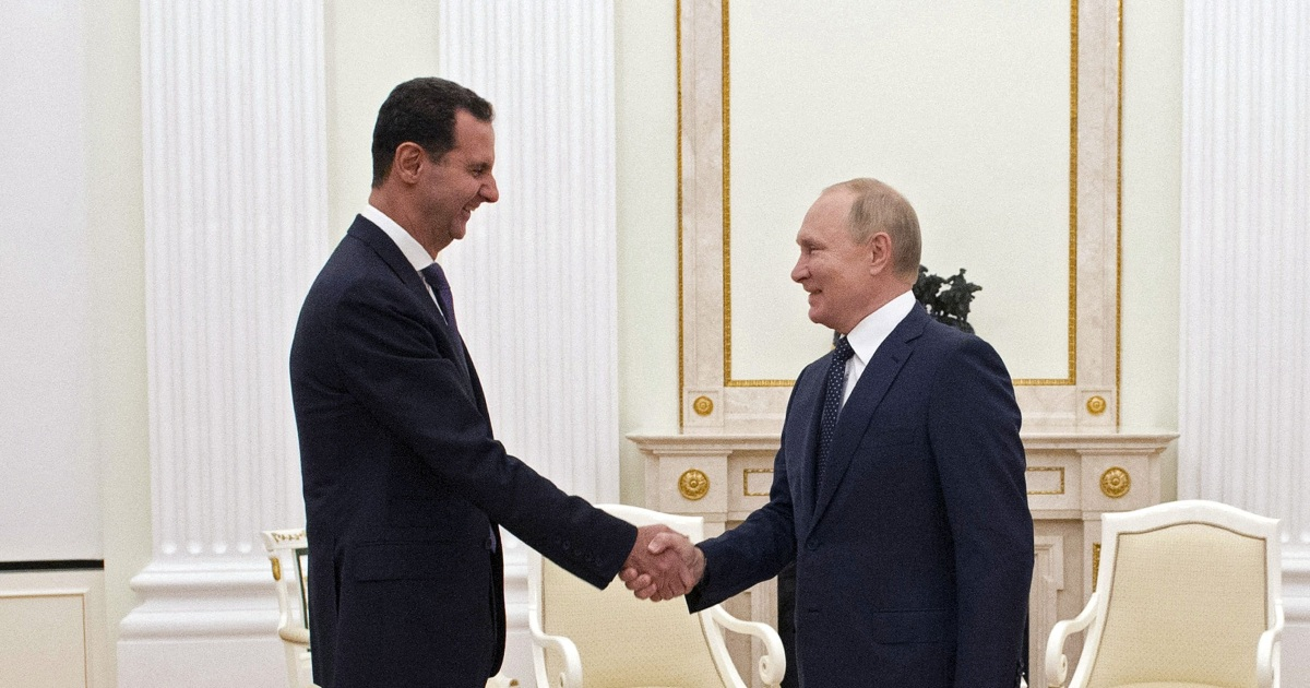 Putin meets Assad, takes swipe at U.S. and Turkish forces in Syria