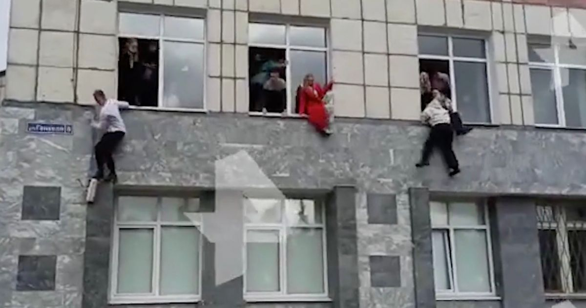 Russia university shooting: 5 dead as gunman opens fire and students leap out windows