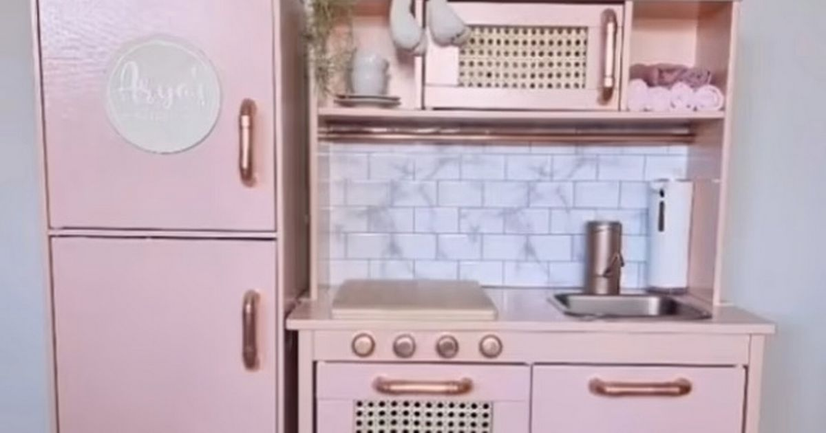 Savvy mum transforms IKEA toy kitchen into ingenious play area for daughter
