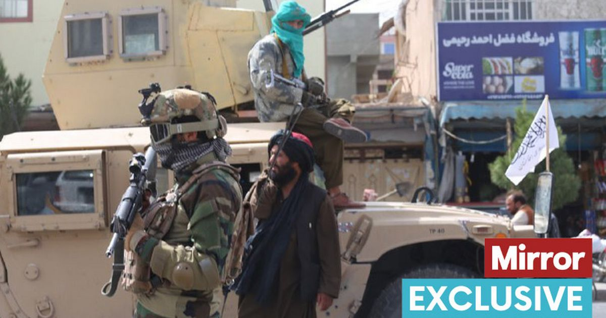 Taliban members take strict security measures in Herat, Afghanistan, after demonstrations