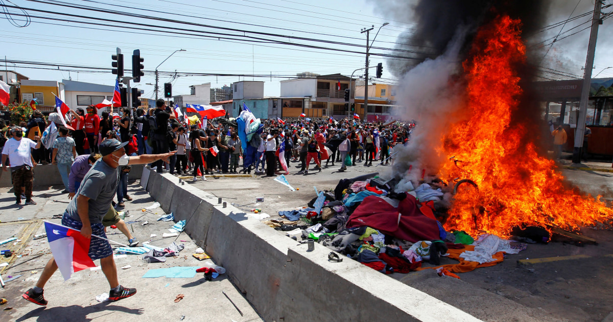 Venezuelan migrants in Chile face fiery anti-immigration protests