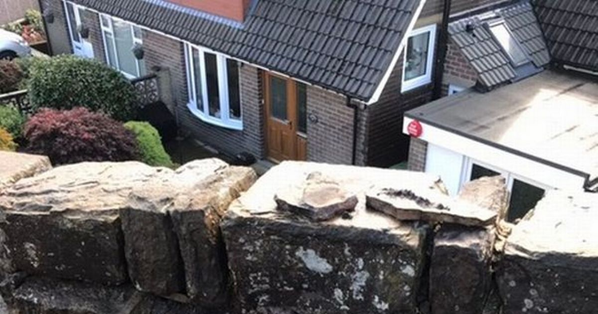 Woman bans grandkids from playing in the garden after she's 'almost killed' by falling stones
