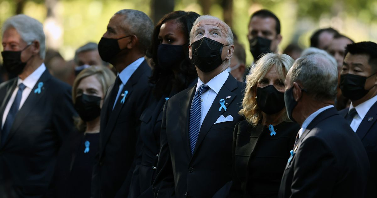 World remembers 9/11 as Biden joined by Obama and Clinton mark America's darkest day