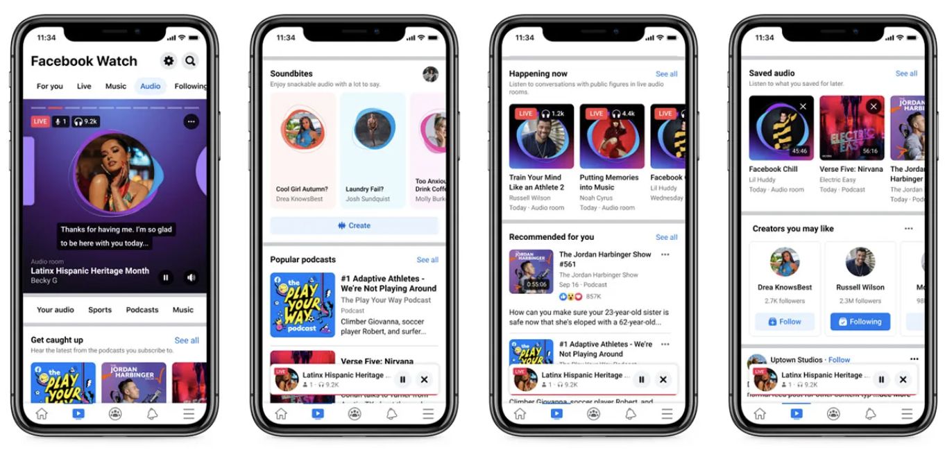 New Feature From Facebook: All Audio Services In One Place! 1