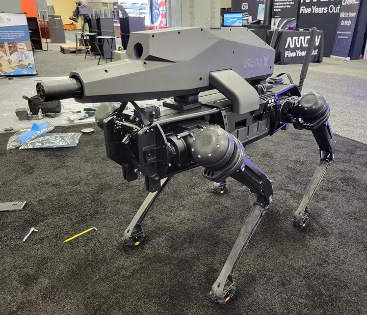 Sniper Rifles Mounted On Robots