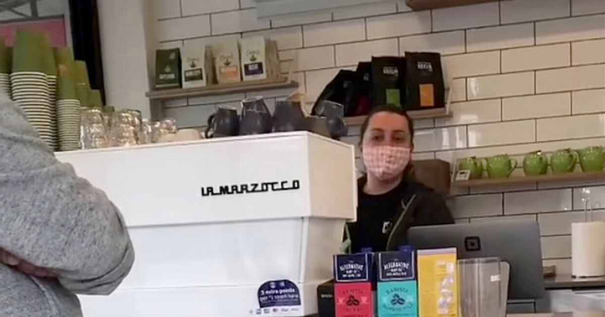 Anti-vaxxer rants at coffee shop worker who asked him for proof of Covid vaccination