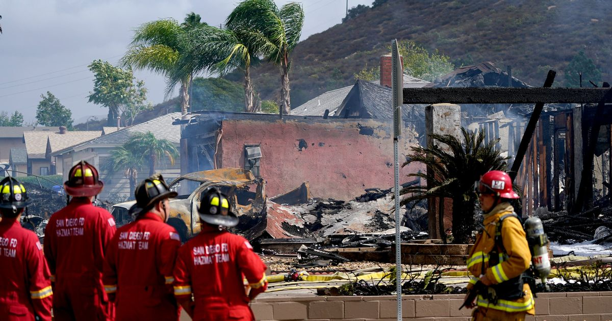 At least two dead in California plane crash as homes and vehicles destroyed