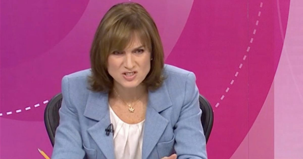 Fiona Bruce chairing the BBC