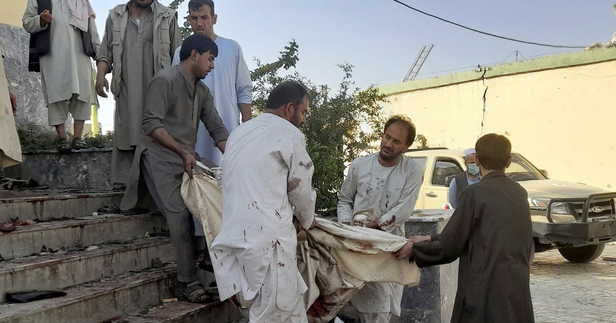 Blast at Afghan mosque kills or wounds dozens, Taliban and aid groups say
