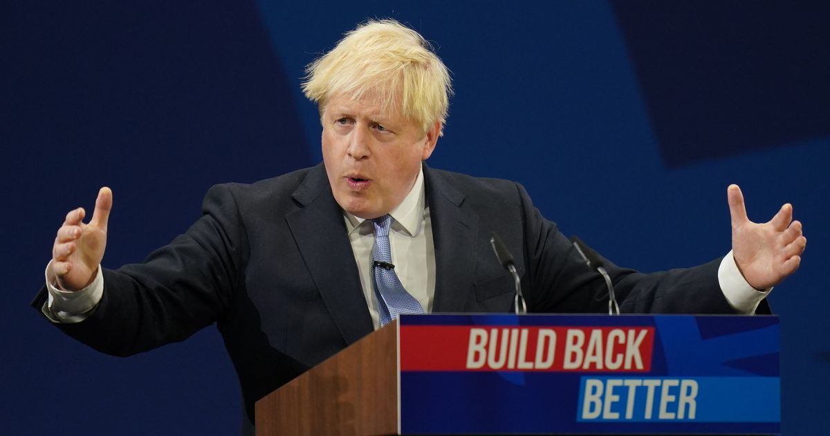 Boris Johnson's conference speech was 'nothing but hot air', says union leader