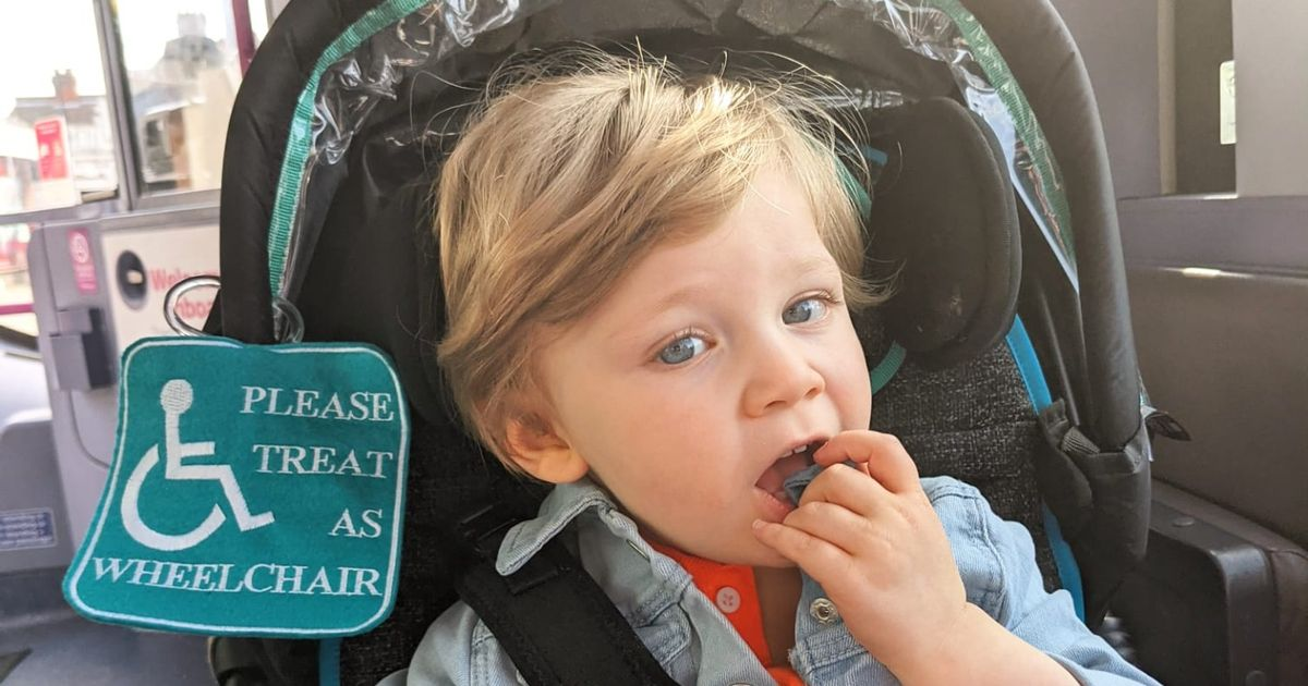 Boy, 2, self-harms because he's unable to walk or talk