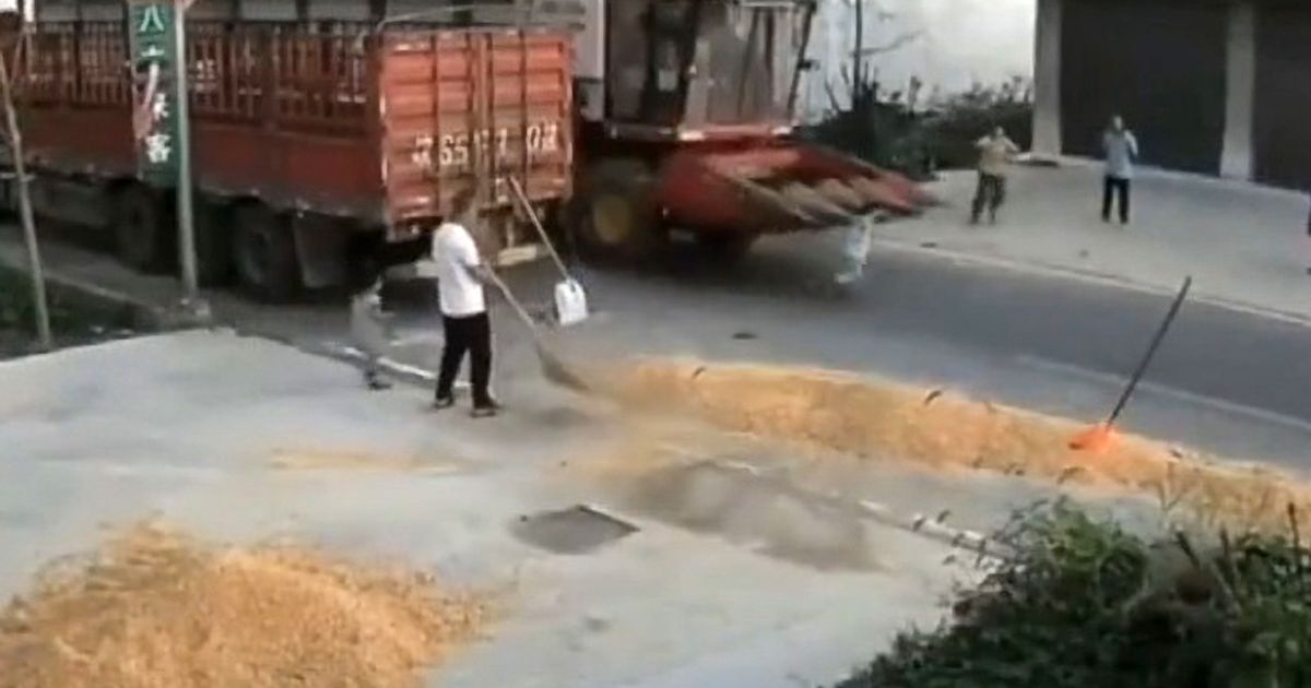 Boy hit by combine harvester in front of parents but miraculously survives