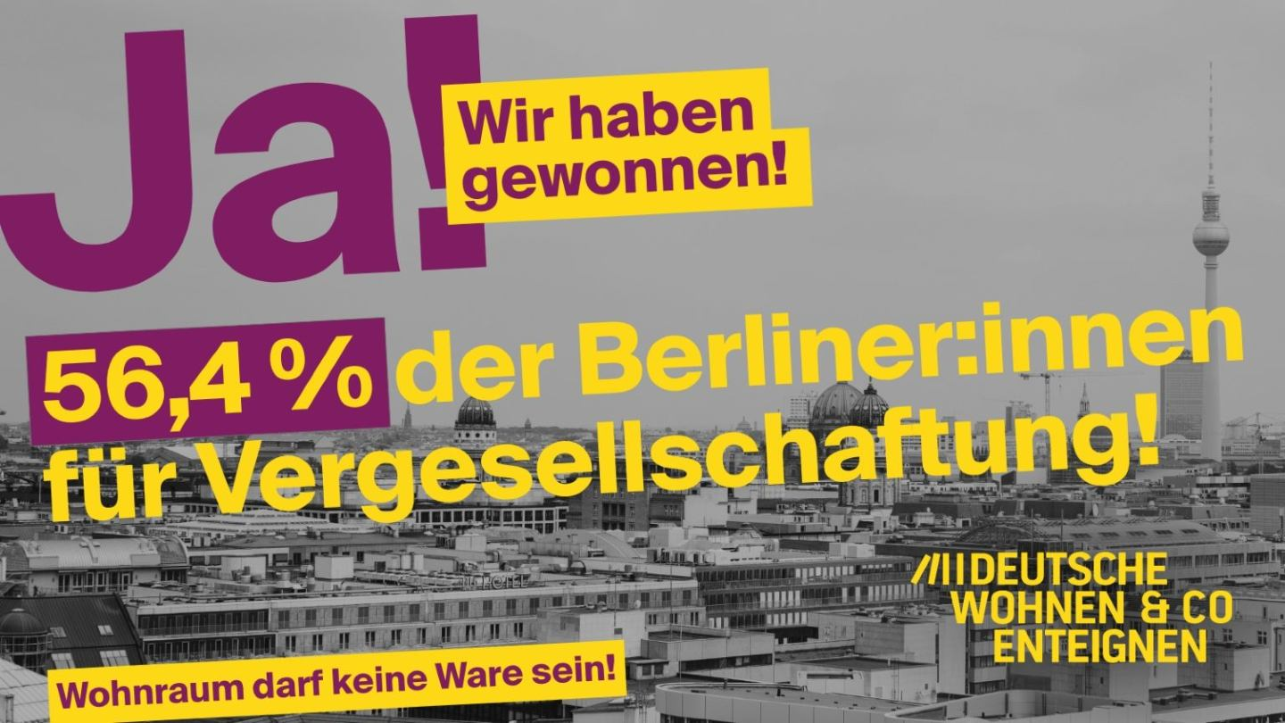 By a Huge Margin, Berlin Votes to Expropriate Corporate Landlords