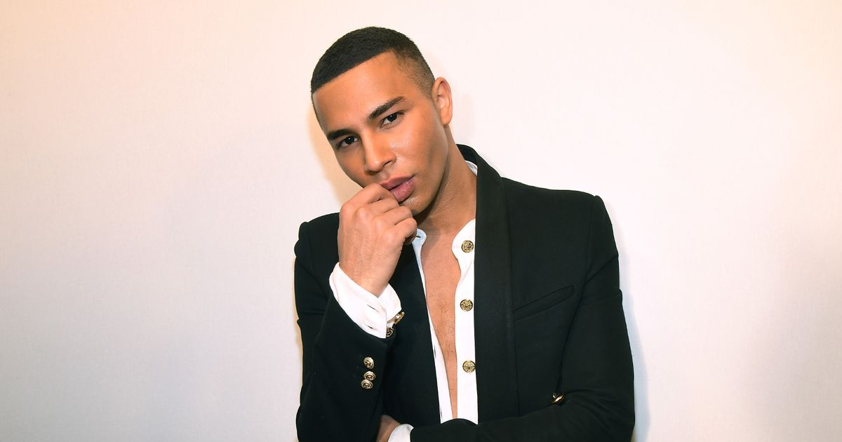 Olivier Rousteing attends the Balmain Homme Menswear Fall/Winter 2018-2019 show