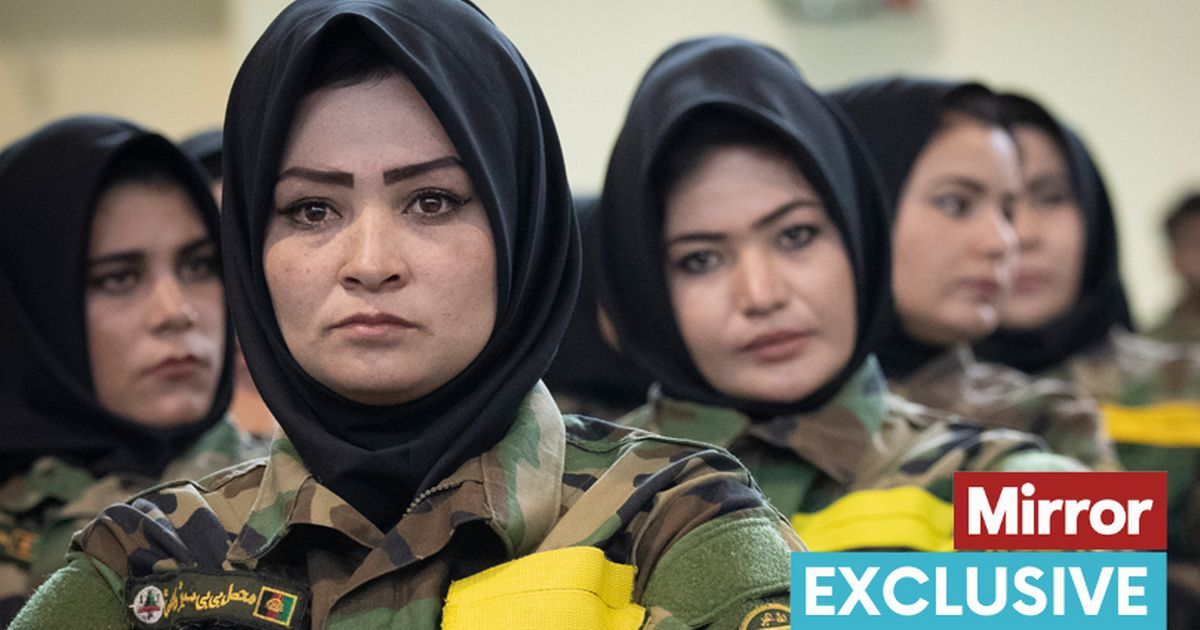 Fiercesome woman Afghan soldier at their graduation ceremony at the Afghan Army Officer Academy Anoaoa, Quargha west of Kabul.