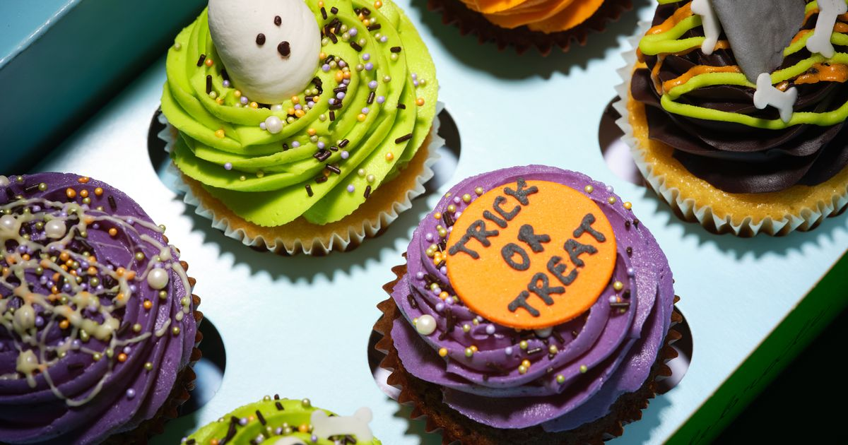Feast on Halloween cakes topped with ghouls, ghosts and grave-stones