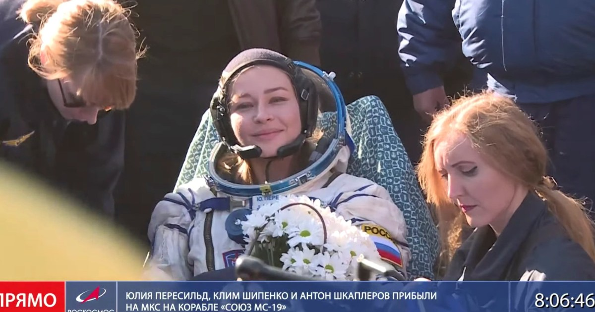 First movie in space: Russian film crew lands after shooting aboard space station