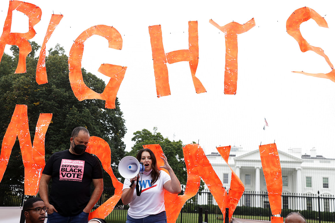 Frustrated voting-rights advocates claw for opening on Senate filibuster