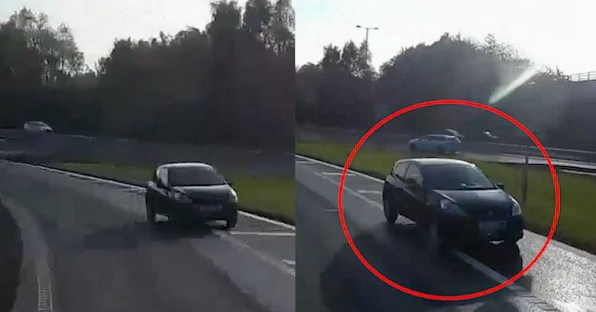 HGV tries to warn driver going wrong way on motorway moments before   crash