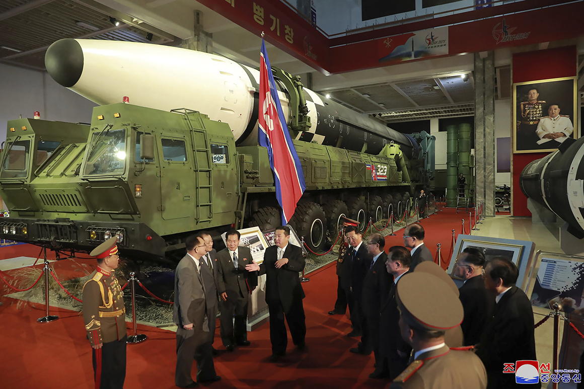Kim vows to build 'invincible' military while slamming U.S.