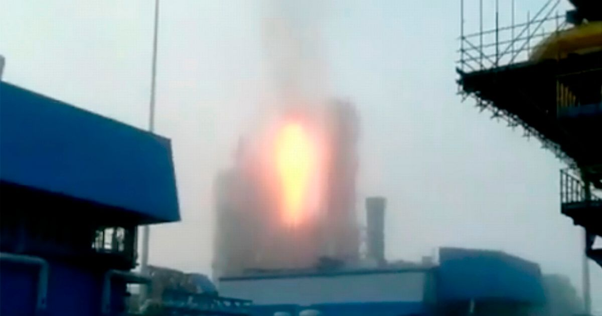 Major explosion and fire at huge refinery in Russia amid gas supply row with Europe