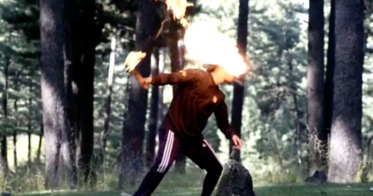 Martial artist sets face on fire after fire breathing trick goes horrifically wrong