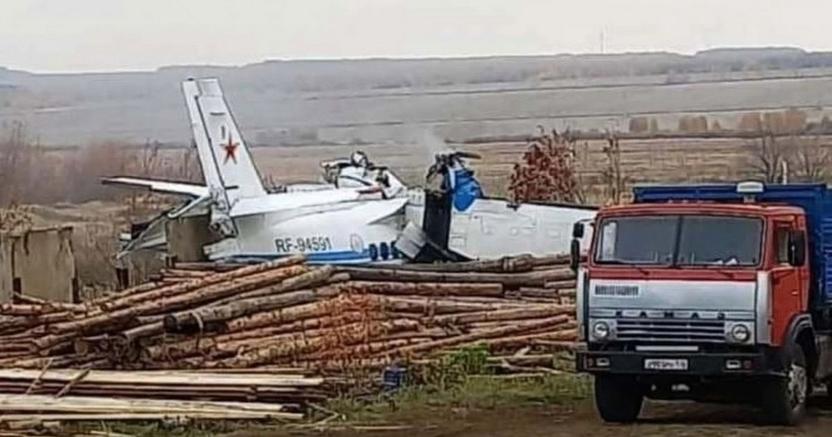 The plane crashed in Tatarstan in the east of the country