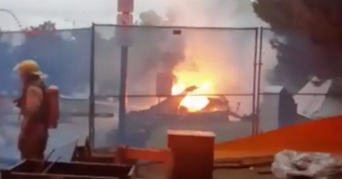 The plane crashed at Dieppe Park, near Montreal
