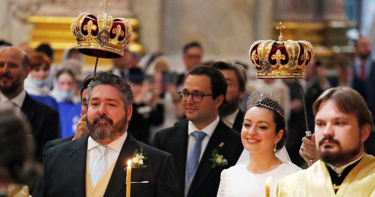 Russia hosts first royal wedding since revolution as descendant of tsars marries