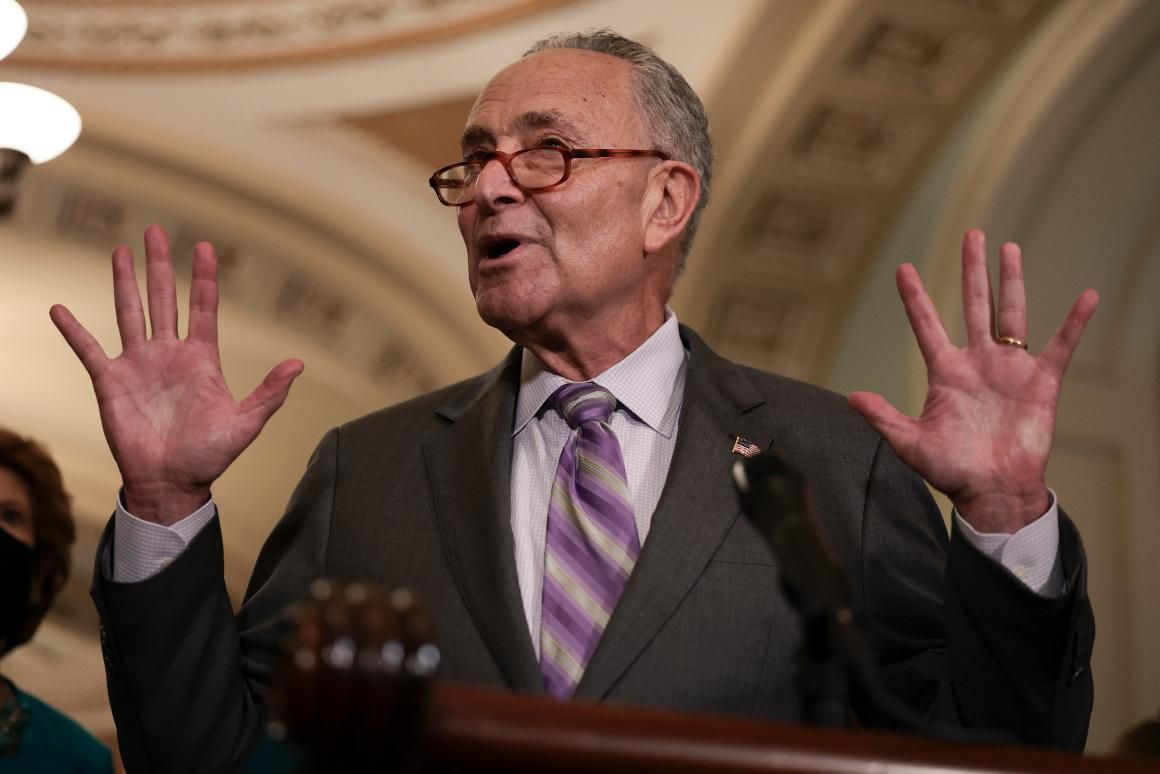 Schumer roasts Republicans, killing the mood for his most powerful centrist