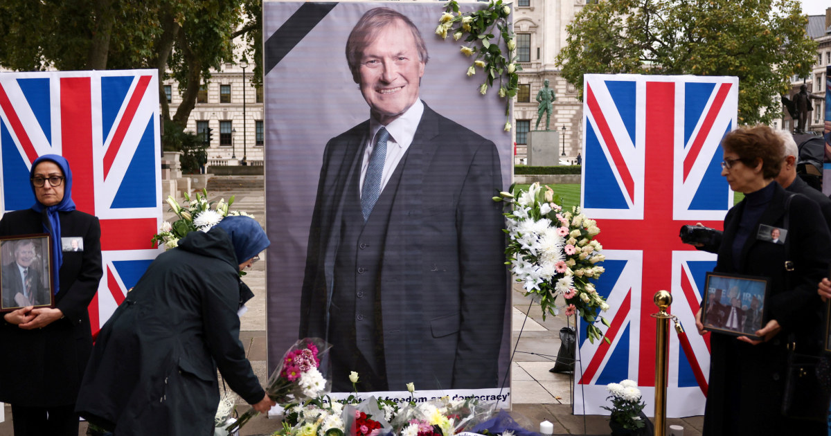 U.K. police charge man with lawmaker's murder after stabbing attack