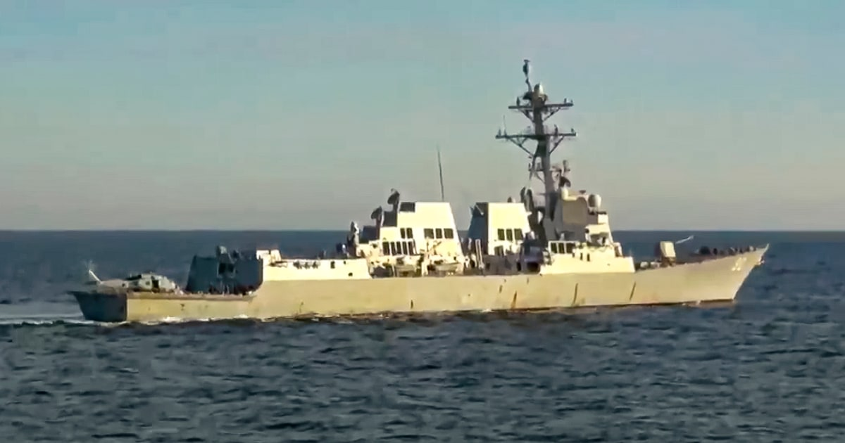 U.S. Navy denies Russian claim it chased off American destroyer