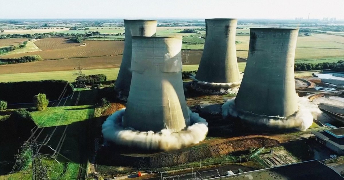 WATCH: Controlled demolition of U.K. power station towers