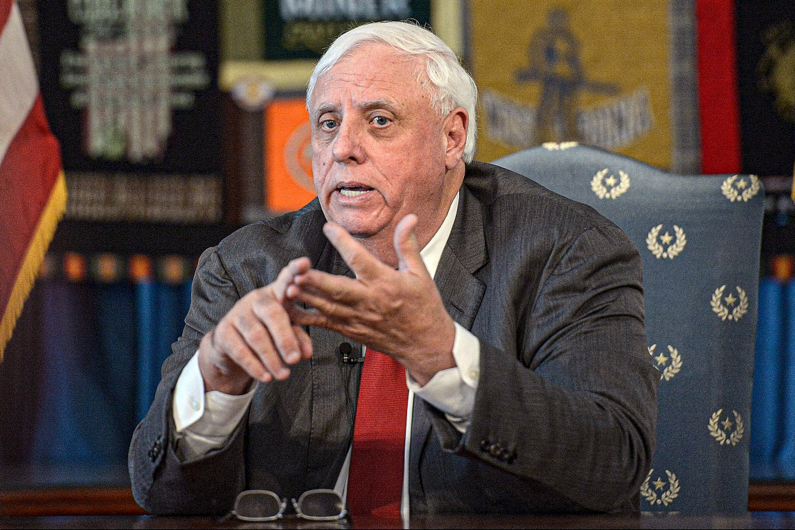 West Virginia governor gets testy over questions about handling of Covid surge