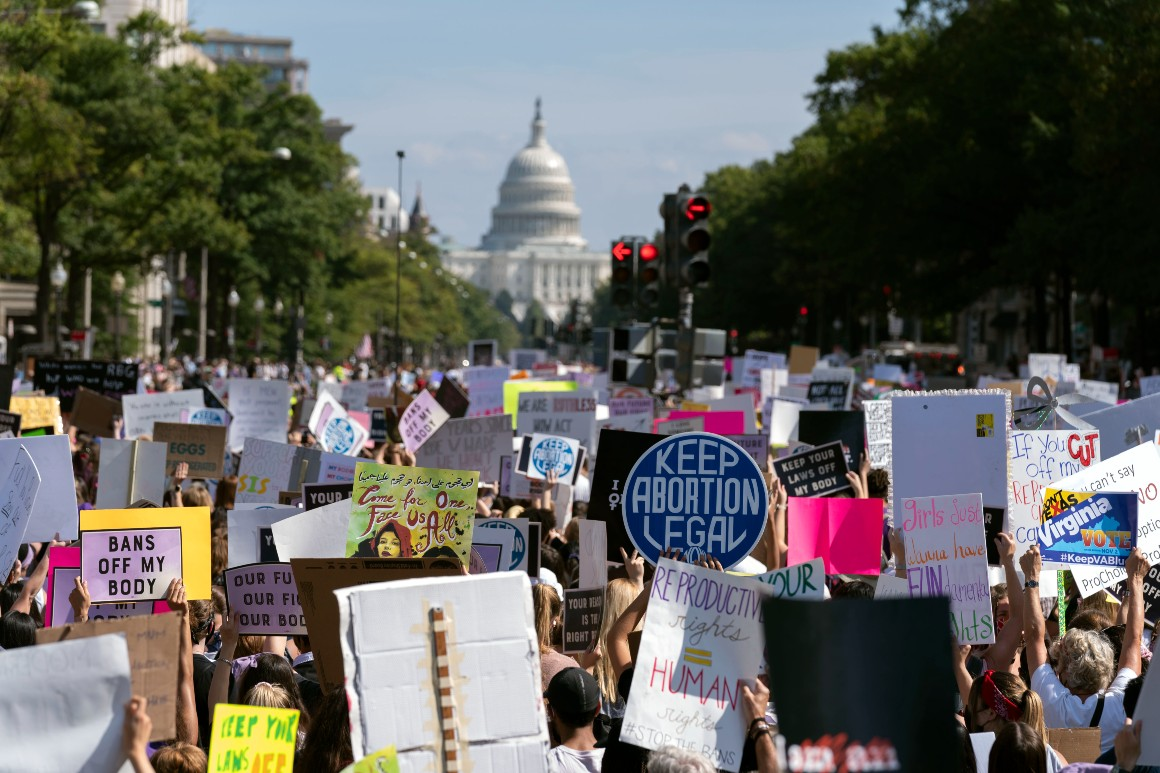 Women's March targets Supreme Court, with abortion on line