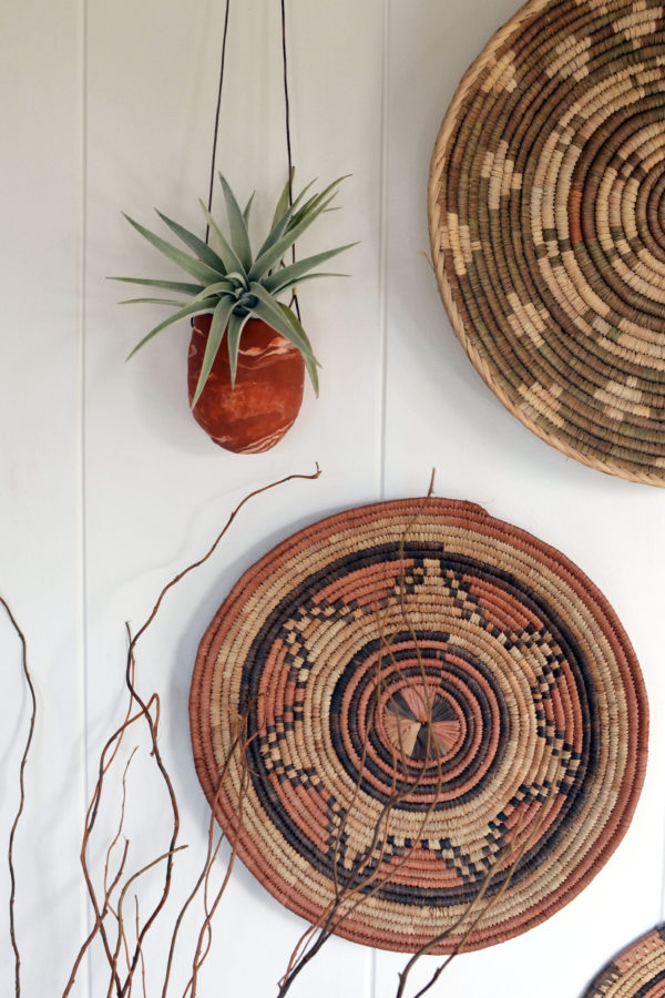 Marbled Clay Hanging Planters