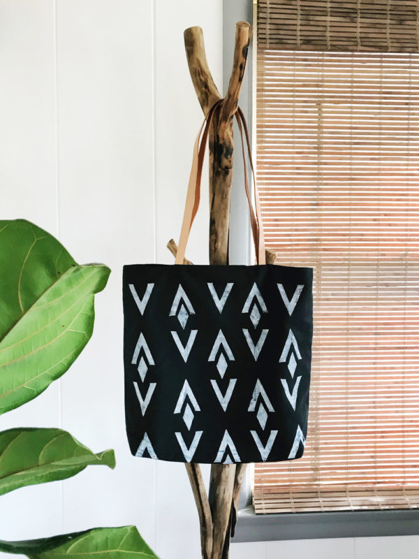 Materials Kit: Block Printed Black Tote