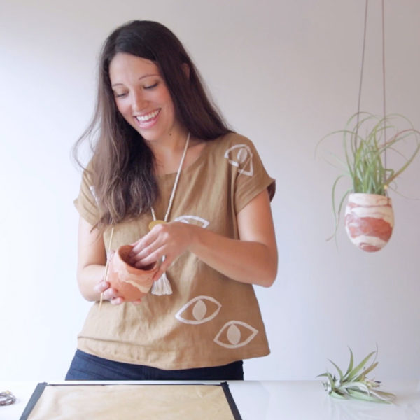 Marbled Clay Planters | Emily Reinhardt