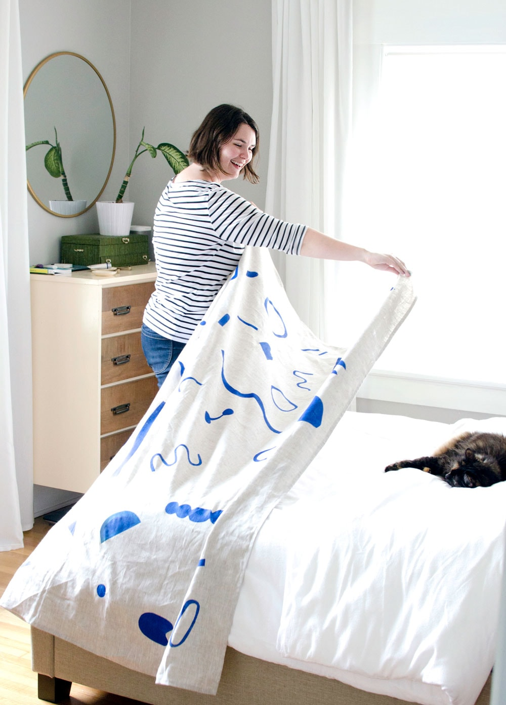 Erin Dollar | Large Scale Fabric Stenciling