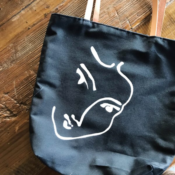 Materials Kit: Stenciled Black Tote
