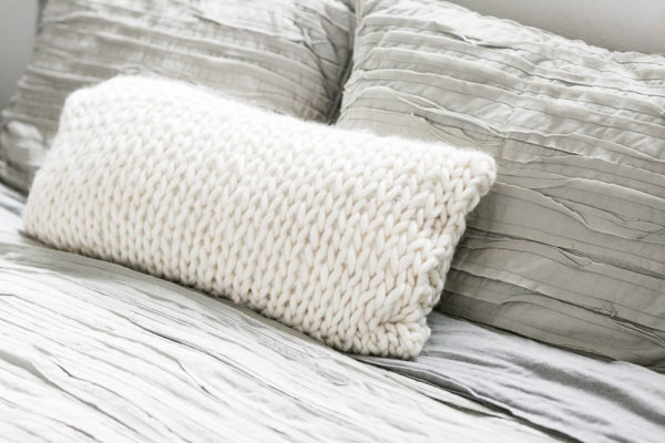 Chunky Lumbar Knit Pillow | Alison Abbey