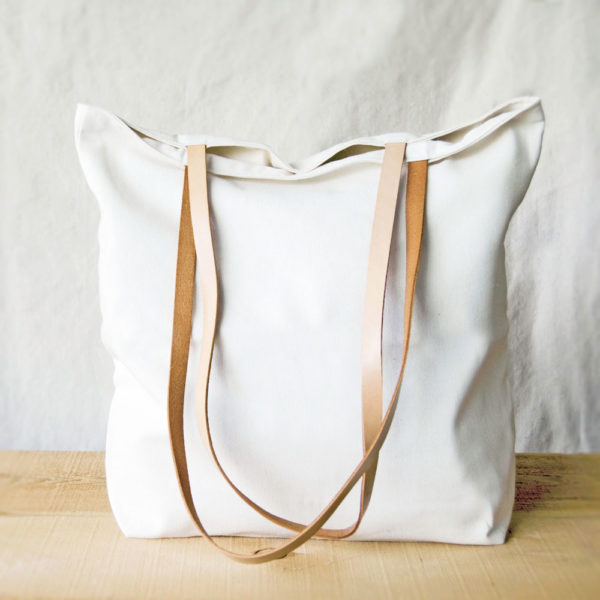 Materials Kit: Canvas & Leather Tote