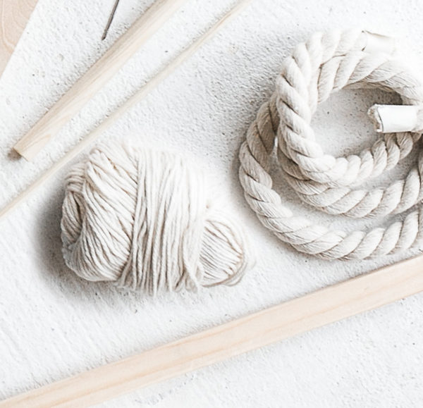 Materials Kit: Dowel, Warp & Soft Cotton Rope | Pibione Tapestry Weaving