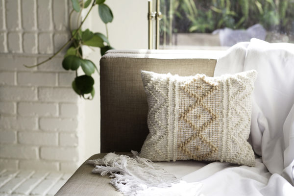 A Pibione Accent Pillow with Lindsey Campbell