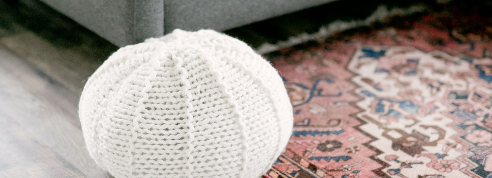 Knitted Floor Pouf | Alison Abbey