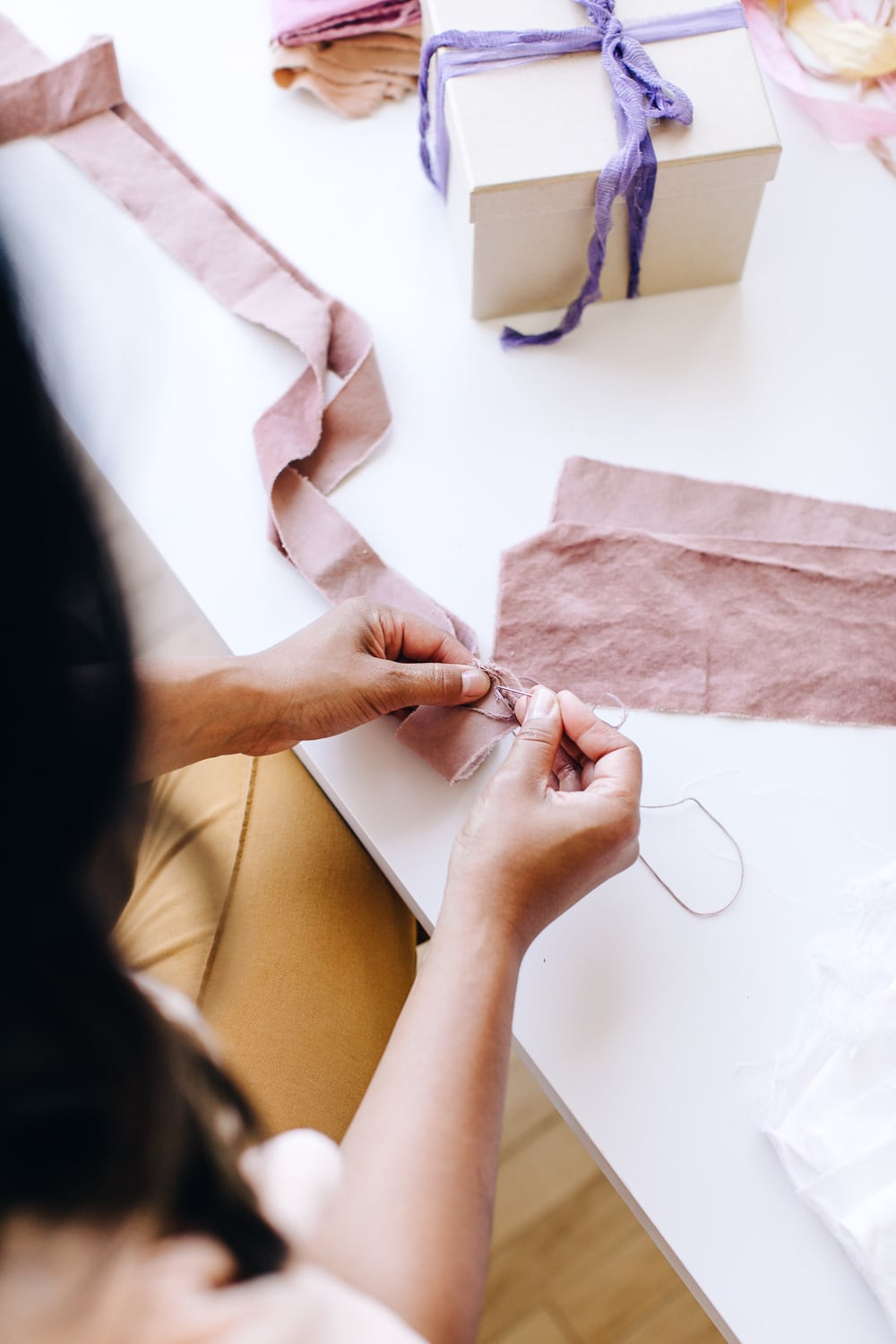 A Naturally Dyed Ribbons Workshop with Chrysteen Borja | The Crafter's Box