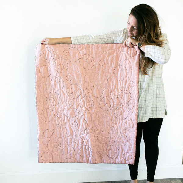 Explore hand quilting with artist Elise Cripe in a new Rose & Steel colorway