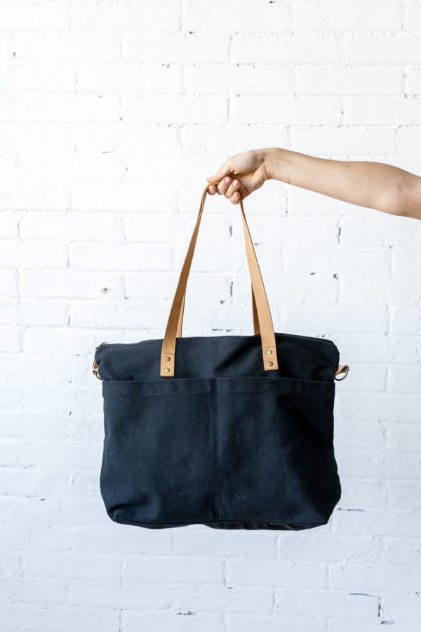 A Canvas & Leather Toolbox Bag