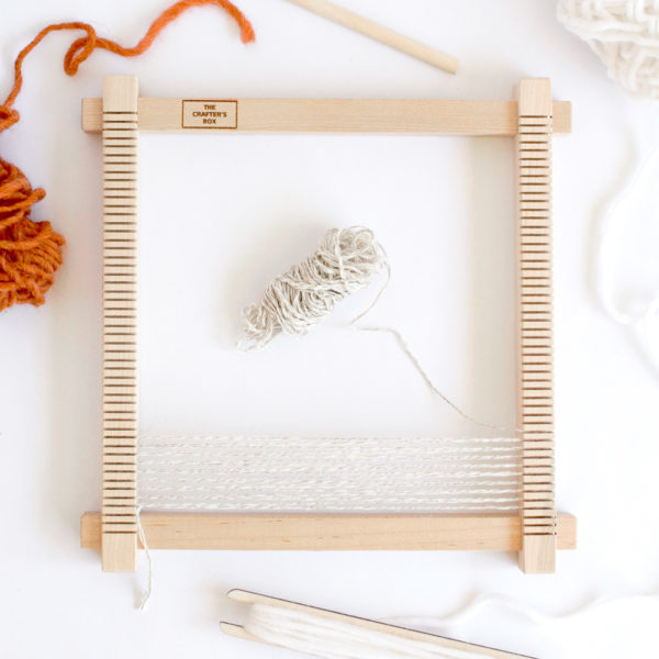 We've worked with a local San Diego woodworker to customize a mini maple loom to continue weaving in Lindsey Campbell's style. We originally collaborated with Lindsey in September of 2018.
